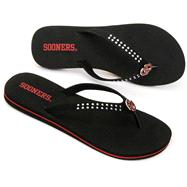 Oklahoma Sooners Women's Stud Flip Flop