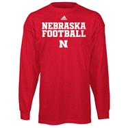 Nebraska Cornhuskers adidas 2012 Red Youth Practice Long Sleeve T-Shirt