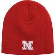 Nebraska Cornhuskers adidas Red Youth Basic Uncuffed Knit Hat