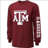 Texas A&M Aggies  Maroon Youth Double Hit II Long Sleeve T-Shirt