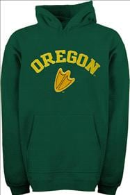 Oregon Ducks Kids 4-7 Green Tackle Twill Hooded Sweatshirt