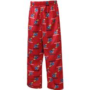 Kansas Jayhawks Youth Red Team Logo Printed Pants