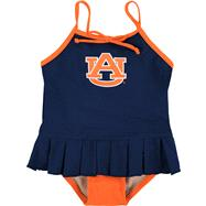 Auburn Tigers Toddler Cheerleader in Training Swimsuit