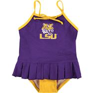 LSU Tigers Toddler Cheerleader in Training Swimsuit