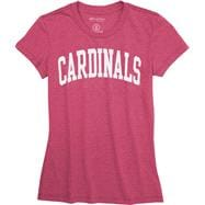 Louisville Cardinals Women's Pink Jones & Mitchell Arch T-Shirt