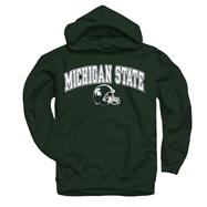 Michigan State Spartans Youth Green Football Helmet Hooded Sweatshirt