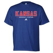 Kansas Jayhawks Royal adidas Half Moon T-Shirt