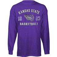 Kansas State Wildcats Legacy Basketball Long Sleeve T-Shirt