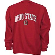 Ohio State Buckeyes Youth Red Tackle Twill Crewneck Sweatshirt