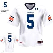 Auburn Tigers White Under Armour Performance 2011 Replica Football Jersey: Auburn Tigers # Football Jersey