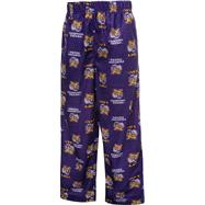 LSU Tigers Kids 4-7 Purple Team Logo Printed Pants