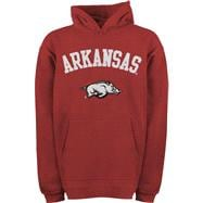 Arkansas Razorbacks Kids 4-7 Cardinal adidas Tackle Twill Hooded Sweatshirt