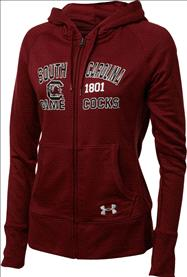 South Carolina Fighting Gamecocks Women's Under Armour Signature French Terry Full-Zip Hood Sweatshirt