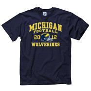 Michigan Wolverines 2012 Football Season Schedule T-Shirt