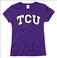 TCU Horned Frogs Women's Arch N Mascot T-Shirt