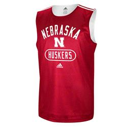 Nebraska Cornhuskers adidas College Basketball Practice Jersey - Red