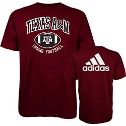 Texas A&M Aggies adidas Spring Football Hitch & Go T-Shirt - Maroon