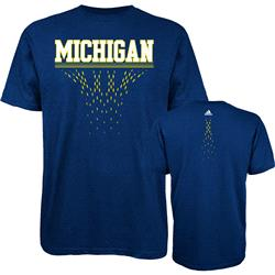 Michigan Wolverines adidas Diamond Cut T-Shirt - Navy