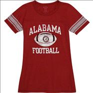 Alabama Crimson Tide Women's Intensity Ring Spun Football Jersey T-Shirt
