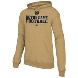 Notre Dame Fighting Irish adidas 2012 Football Sideline Practice Hooded Sweatshirt - Gold