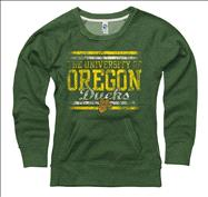 Oregon Ducks Women's Boundary Ring Spun Scoopneck Sweatshirt