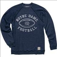 Notre Dame Fighting Irish Original Retro Brand Navy Vintage Football Crewneck Sweatshirt