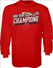 Wisconsin Badgers 2012 Big Ten Conference Football Champions Sparkle Long Sleeve T-Shirt