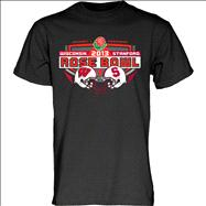 Stanford Cardinal vs Wisconsin Badgers 2013 Rose Bowl Match-Up T-Shirt