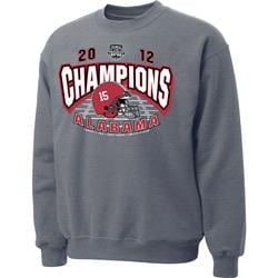 Alabama Crimson Tide 2012 BCS National Champions Crewneck Sweatshirt - Grey