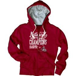 Alabama Crimson Tide Women's 2012 BCS National Champions Property Full-Zip Hooded Sweatshirt