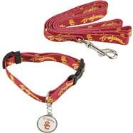 USC Trojans Dog Collar & Leash Set