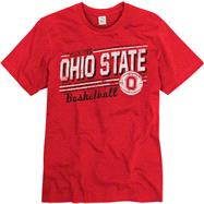 Ohio State Buckeyes Red Escalate Basketball Ring Spun T-Shirt