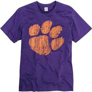 Clemson Tigers Purple Mascot Ring Spun T-Shirt