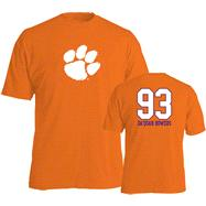 Da'Quan Bowers #93 Name and Number Clemson Tigers T-Shirt