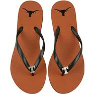 Texas Longhorns Women's Dark Orange School Gem Flip Flops