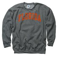 Florida Gators Dark Heather Arch Crewneck Sweatshirt