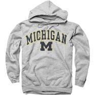 Michigan Wolverines Youth Sport Grey Perennial II Hooded Sweatshirt