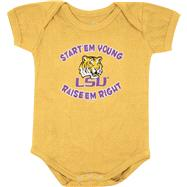 LSU Tigers Newborn / Infant Gold Start Em' Young Creeper