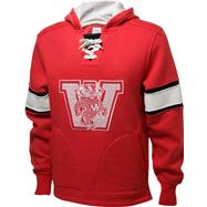 Wisconsin Badgers Red adidas Authentic Vintage College Vault Hooded Sweatshirt