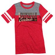 Louisville Cardinals Women's Red adidas Originals Traditional Me Tri-Blend Sporty T-Shirt