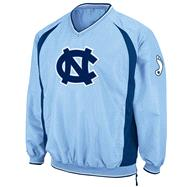 North Carolina Tar Heels Light Blue Hardball Pullover Jacket