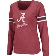 Alabama Crimson Tide Crimson Women's Mako II Slub Knit Scoop Neck Long Sleeve T-Shirt