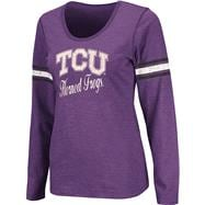 TCU Horned Frogs Purple Women's Mako II Slub Knit Scoop Neck Long Sleeve T-Shirt