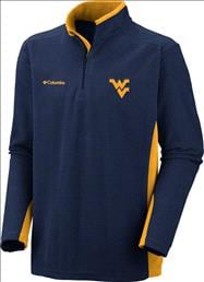 West Virginia Mountaineers Columbia Klamath Range II 1/2 Zip Jacket