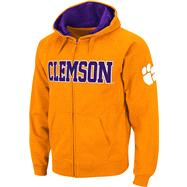 Clemson Tigers Orange Twill Tailgate Full-Zip Hooded Sweatshirt