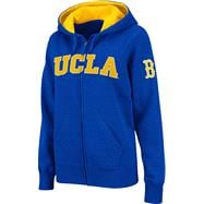 UCLA Bruins Women's Blue Twill Tailgate Full-Zip Hooded Sweatshirt