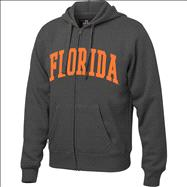 Florida Gators Charcoal Twill Arch Full-Zip Hooded Sweatshirt