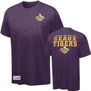 LSU Tigers Purple Touchback Tri-Blend T-Shirt