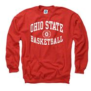 Ohio State Buckeyes Red Reversal Basketball Crewneck Sweatshirt