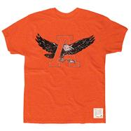 Auburn Tigers Orange Retro Brand Vintage Mascot Slub Knit T-Shirt